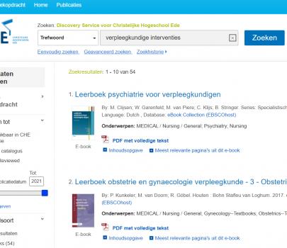 """Met """"CHE Search"""" zoeken in alle databanken en collecties van het Studiecentrum"""